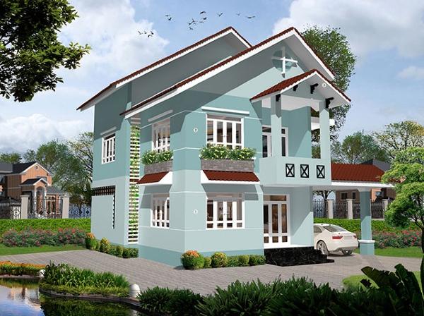 cach phoi mau son mat tien nha 04 - 7 Cách phối màu sơn mặt tiền nhà đẹp được ưa chuộng