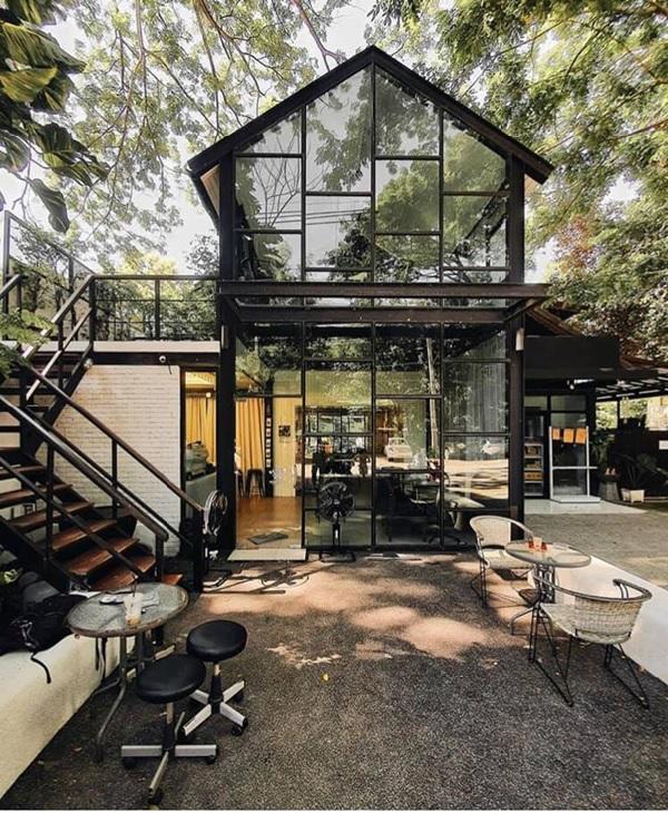 thiet ke quan cafe thep tien che 10 - 20+ Mẫu thiết kế quán cafe thép tiền chế đẹp, ấn tượng