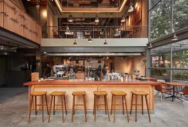 thiet ke quan cafe thep tien che 12 - 20+ Mẫu thiết kế quán cafe thép tiền chế đẹp, ấn tượng