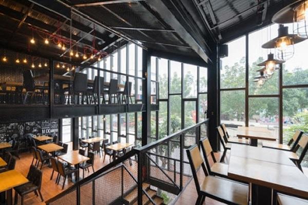 thiet ke quan cafe thep tien che 2 - 20+ Mẫu thiết kế quán cafe thép tiền chế đẹp, ấn tượng