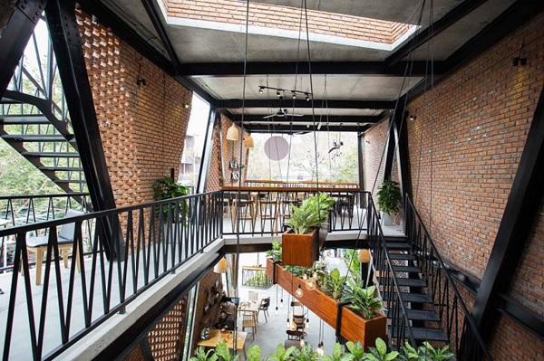 thiet ke quan cafe thep tien che 6 - 20+ Mẫu thiết kế quán cafe thép tiền chế đẹp, ấn tượng