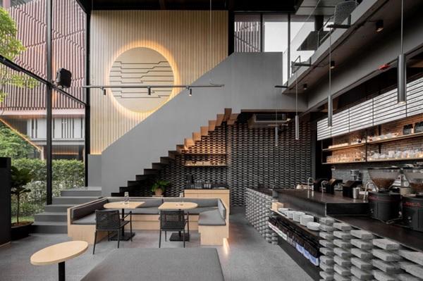 thiet ke quan cafe thep tien che 8 - 20+ Mẫu thiết kế quán cafe thép tiền chế đẹp, ấn tượng